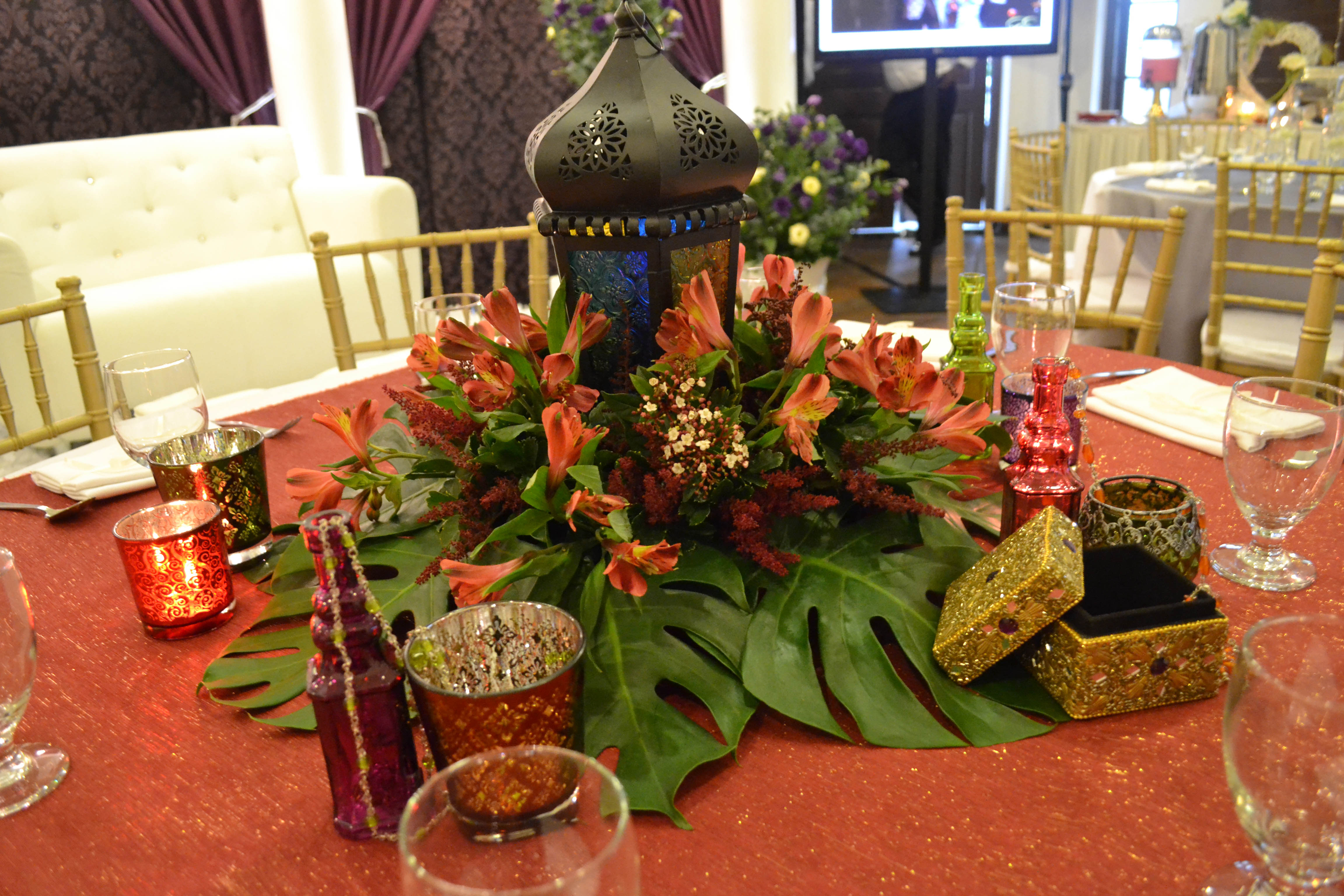 2. Moroccan Theme Centerpiece | Eternally Yours